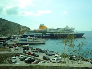 Santorini Hafen